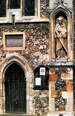 The entrance to All Saint's Church